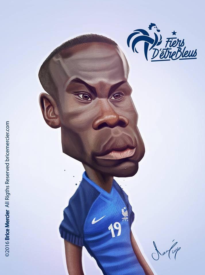 Caricature de Bacary Sagna par Brice Mercier