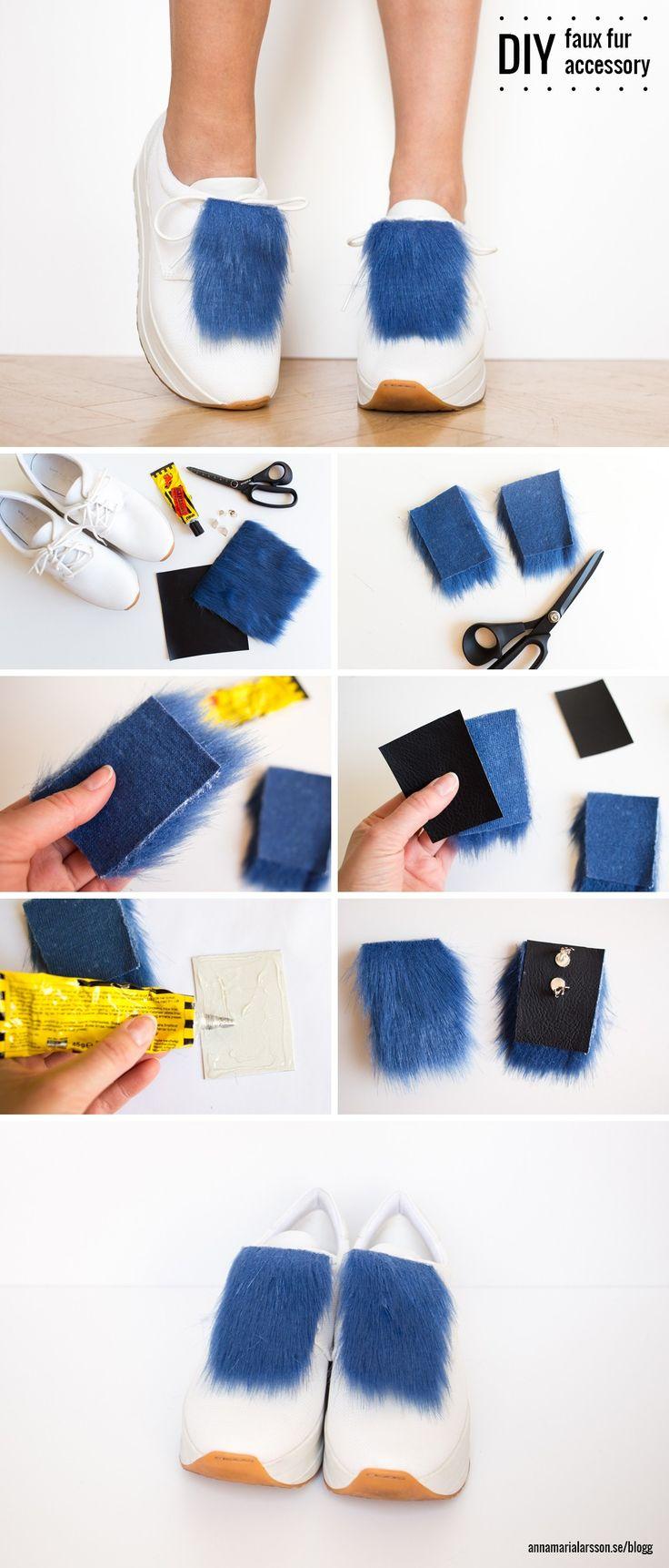 DIY faux fur accessory by Anna María