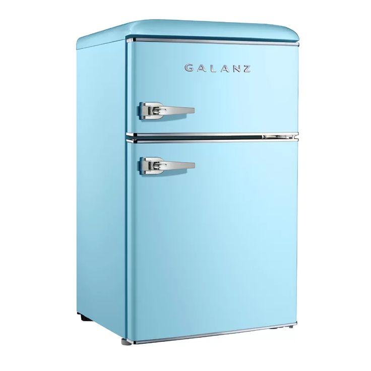 Galanz retro 31 cu ft freestanding mini fridge with