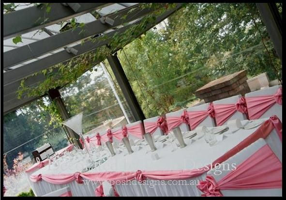 #pink bridal swagging #pink sashes - #wedding and #event #theming available at #poshdesignsweddings - #sydneyweddings #countryweddings #southcoastweddings #wollongongweddings #ruffledsashes #weddingsashes All stock owned by Posh Designs Wedding & Event Supplies – lisa@poshdesigns.com.au or visit www.poshdesigns.com.au or www.facebook.com/.poshdesigns.com.au #Wedding #reception #decorations #Outdoor #ceremony decorations #Corporate #event decoration #Fundraising decorations  #graduations