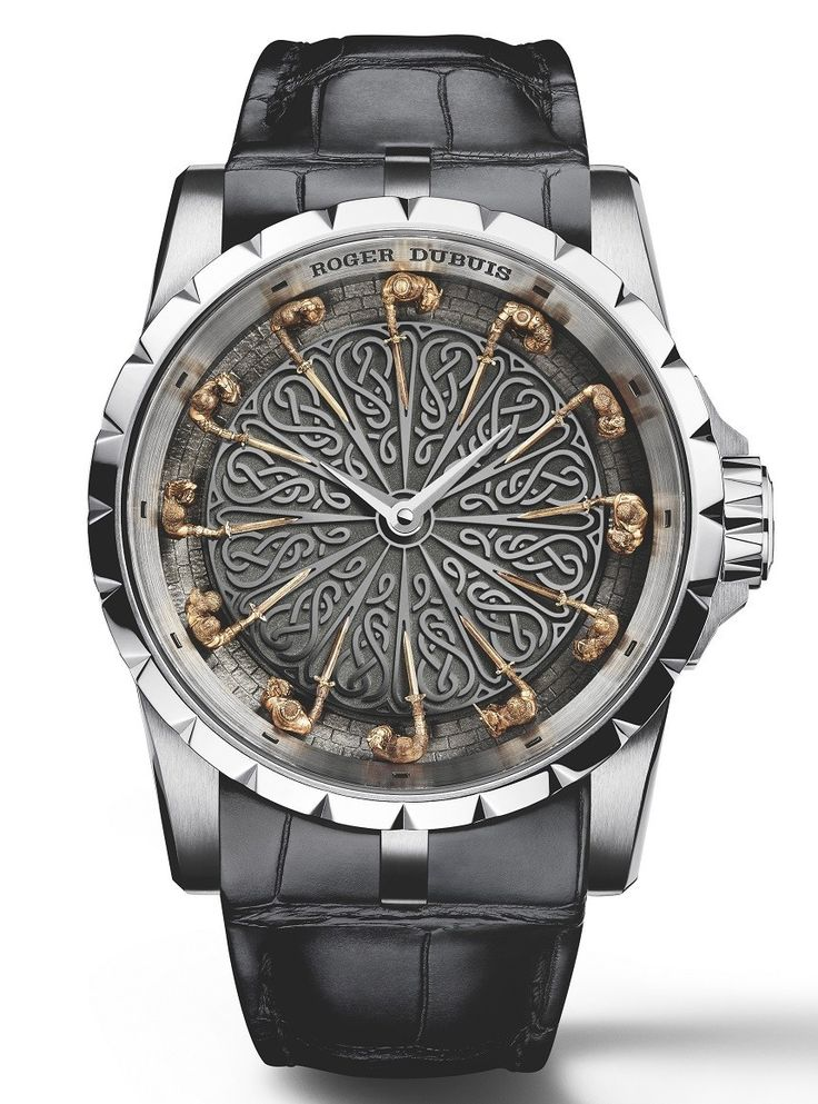 "Roger Dubuis​ Excalibur Knights Of The Round Table II Watch - by Rob Nudds - see more about this crazy thing: http://www.ablogtowatch.com/roger-dubuis-excalibur-knights-round-table-ii-watch/ ""A watch designer's job is to create a relationship between the wearer and their watch. The new Roger Dubuis Excalibur Knights of the Round Table II watch does this is a clever way. By decorating the dial with a culturally significant diorama, the wearer is not only comfortable with an image they have…"