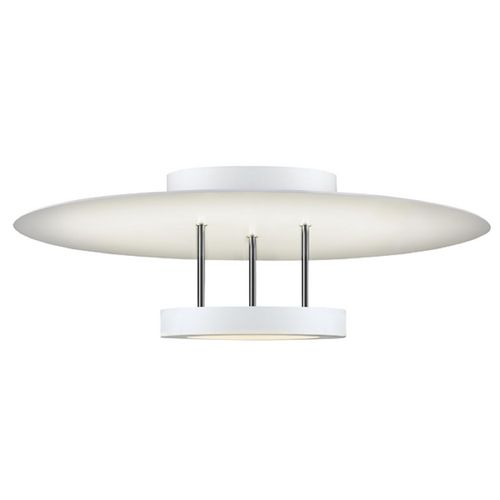 Sonneman Lighting Chromaglo Satin White LED Semi Flushmount Light
