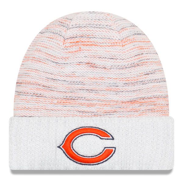 Men's Chicago Bears New Era White 2017 Color Rush Kickoff Knit Hat