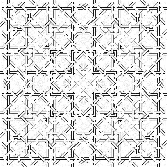 Alhambra coloring pages ~ Islamic interlacing patterns | Patterns from the Islamic ...