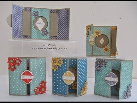 Magic Window Card by Teri Pocock - Stampin' Up! UK Independent Demonstrator - YouTube