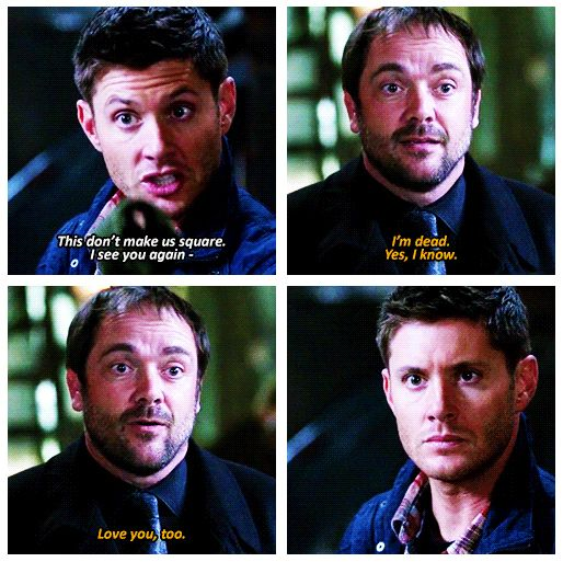 Supernatural. Crowley and Dean
