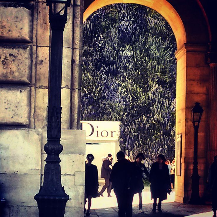 I check out the vibe at Dior's summer/spring 2016 show at Louvre Carre in Paris, France.