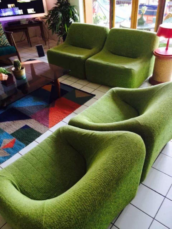 Four Grant featherston Numero Uno Chairs - Retro / Eames era / Modernist