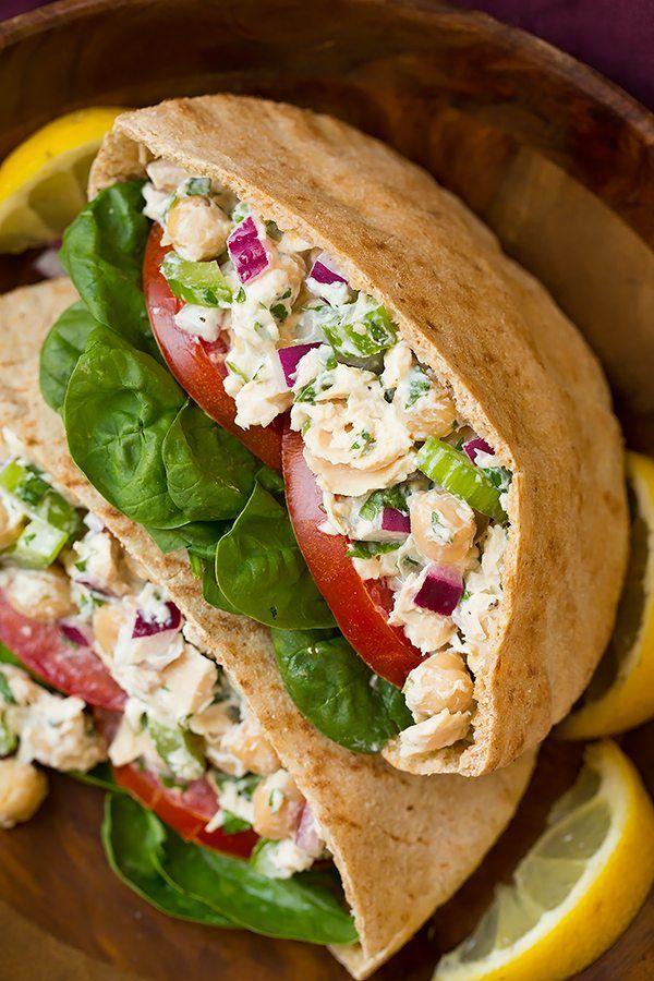 Tuna and Chickpea Pita Sandwiches   Cooking Classy