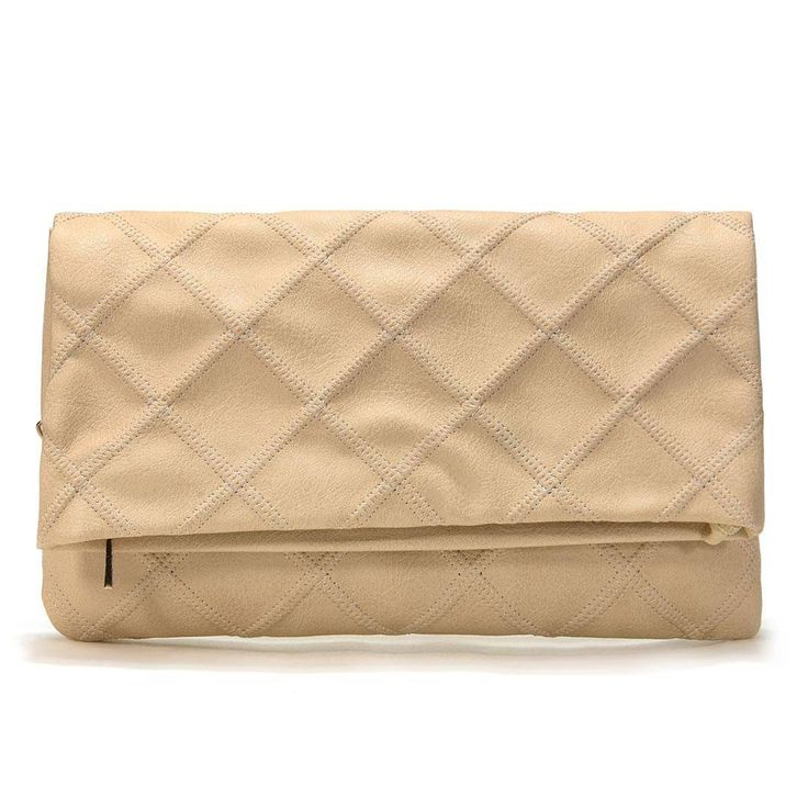Cream Clutch Bag With The Magnetic Closure - US$19.95 -YOINS