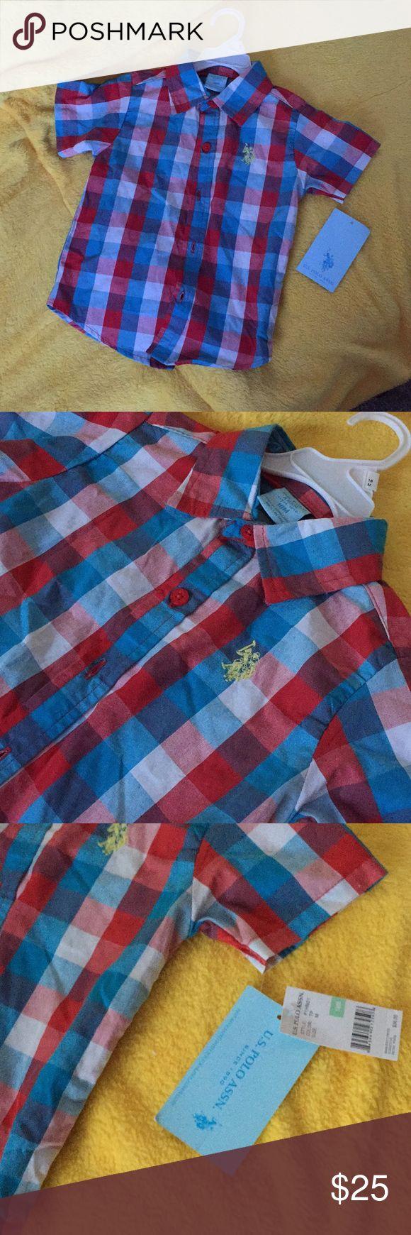 Plaid polo Nwt 18 month U.S. Polo Assn. Shirts & Tops Button Down Shirts