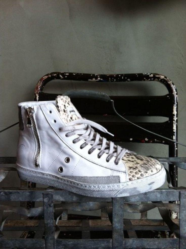 Hege 9 Hamburg Quattrobarradodici Ledersneaker mit