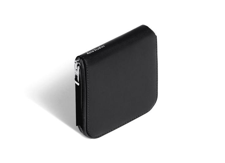 Acne Studios Csarite Black Zippered Wallet