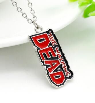 The Walking Dead Pendant Necklace Movie Jewelry Anime Collier Femme Bayan Kolye Erkek Kolye Vintage Accessories Collane Donna 25