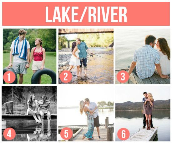 engagement shoot ideas---by the lake/river