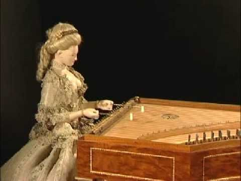 Marie-Antoinette's Automaton: This elegant lady – known as La Joueuse de tympanon (The Dulcimer Player) – is stunningly beautiful. Made in Germany by clockmaker Peter Kintzing and cabinetmaker David Roentgen, this automaton was presented to Queen Marie-Antoinette in 1785. The queen was enchanted, bought the piece at once, and had it placed in the Academy of Science. More info, video link: http://twonerdyhistorygirls.blogspot.com/2012/07/friday-video-marie-antoinettes-automaton.html#