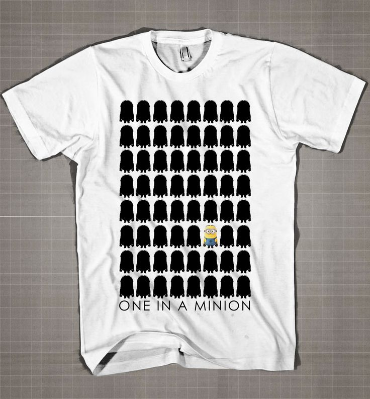 One In A Minion-Row  Mens and Women T-Shirt Available Color Black And White