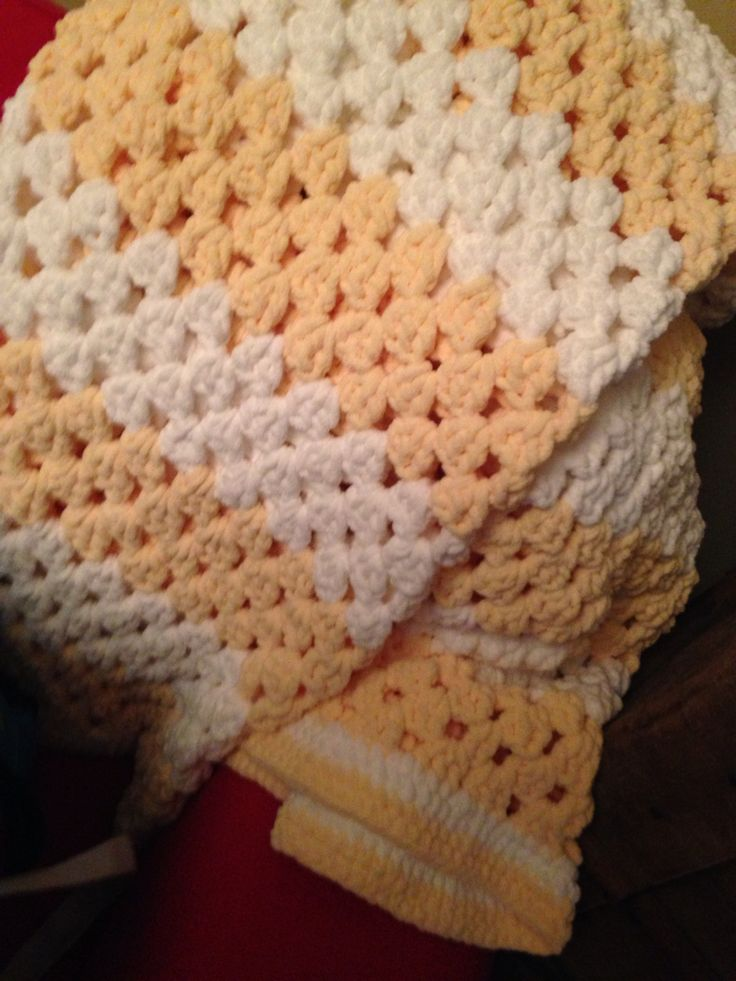 ... for a friend using Bernat Baby yarn and a simple granny square pattern