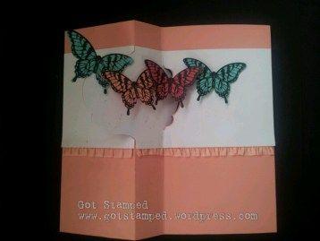 Butterfly pop-up inside