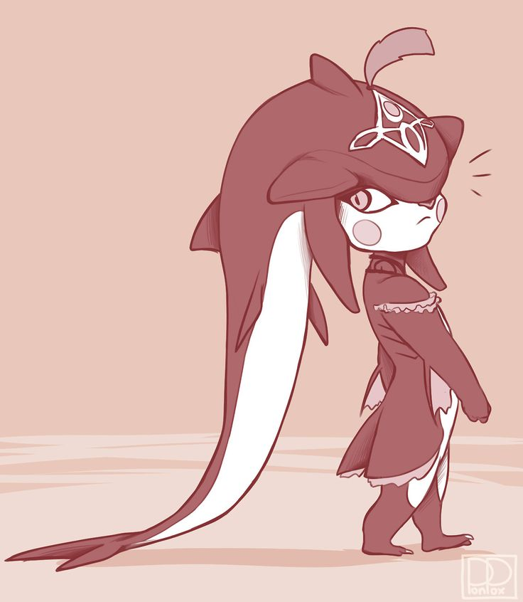 I am goddamn crying over how cute baby Sidon is. His tail is too long and drags across the floor as he walks I just can't deal