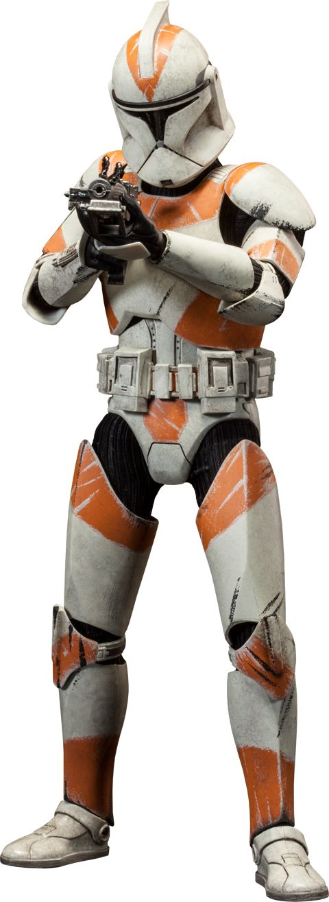 "Sideshow Collectibles Star Wars - Clone Trooper Deluxe: 212th Sixth Scale Figure ~ ""An experienced unit of clones serving under the leadership of Clone Commander Cody & Jedi General Obi-Wan Kenobi. Troopers from the 212th Attack Battalion are distinguished by the unique orange markings on their battle armor. The Clone Trooper Deluxe: 212th is crafted on a fully articulated body & features interchangeable Phase 1 & 2 helmets, along w an arsenal of essential munitions."" ~ New: $153.39"