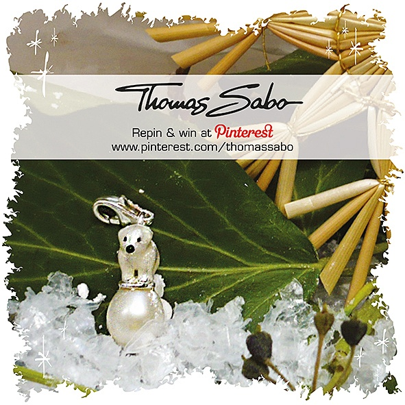 One lucky winner will be drawn on December 6th, 2012! Important: Your facebook or twitter account must be linked to your Pinterest profile! Terms and conditions: http://images.thomassabo.com/www/2/2012/11/TC-Pinterest-Xmas-Sweepstake.pdf