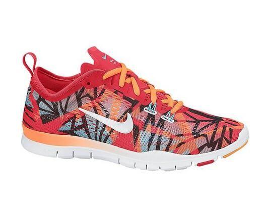 Billige Nike Free 3.0 Flyknit Oransje Rød Blå Løpesko