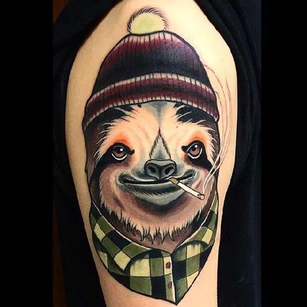 16 best sloth tattoos images on pinterest. Black Bedroom Furniture Sets. Home Design Ideas