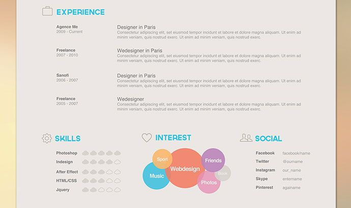 37 Best Images About Free Resume Templates On Pinterest