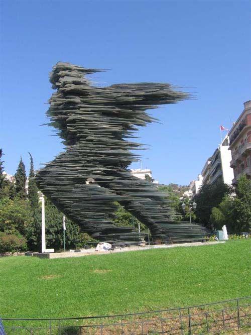 Sculpture runner in Athens