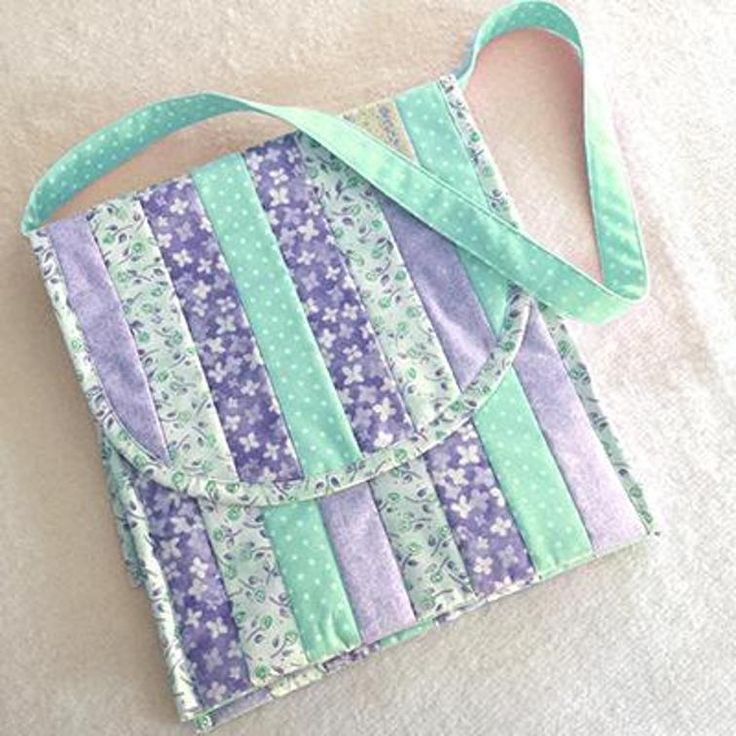 Quilted Purse Pattern - Saddle Bag #558 | Craftsy
