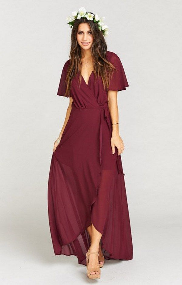 55 Burgundy Bridesmaid Dresses For Fall Winter Weddings