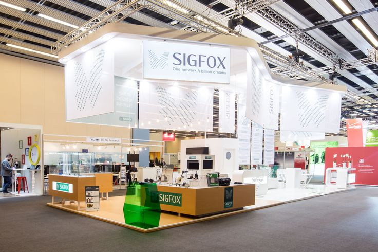 SIGFOX MWC Barcelona 2015 85m2 PRO EXPO Stand design construction