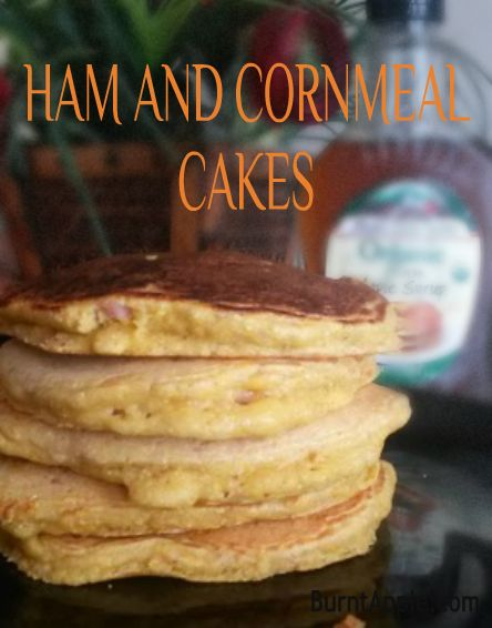 Ham and Cornmeal Cakes. Great for Easter Leftovers! #easter