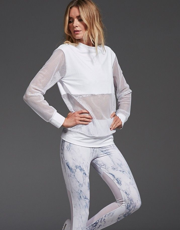 366bfb1a43 Varley Potter White Technical Sweat   Women's Activewear in 2019
