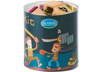 kit de 15 tampons caoutchouc pirates (Aladine)