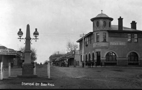 Station St, Box Hill 1900s