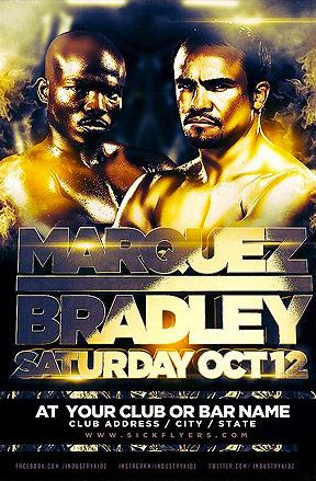 Bradley Marquez Free Poster Template - http://www.freepsdflyer.com/bradley-marquez-free-poster-template/ Bradley Marquez Free Poster Template, a great sports party and club flyer template, perfect for any club, party, dj music and sports stream event!   #Bar, #Boxing, #Event, #Gold, #Pub, #Rock, #RockParty, #Sports