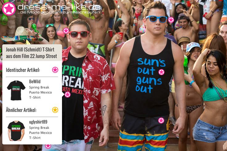 Jonah Hill (Schmidt) T-Shirt (Spring Break Puerto Mexico) aus dem Film 22 Jump Street