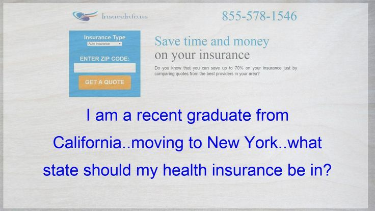 I Have Just Graduated From California Moving To New York Which State Should Be My Health Insurance Affordable Health Insurance