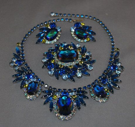 Vintage Costume Jewelry Price Guide: Juliana/DeLizza & Elster Heliotrope Parure
