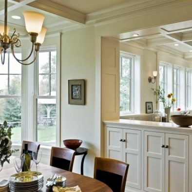 Built In Cabinets Dividing WallIdeas, Traditional Dining Rooms, Kitchens Dining, Living Room, Diningroom, Open Kitchens, Dining Room Design, Half Wall, Room Dividers