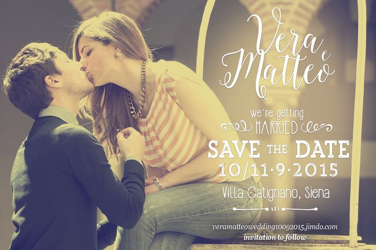 Vera&Matte Wedding save the date!!!