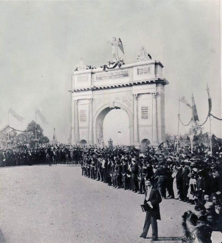 October 8, 1878 - Victorious Romanian Army makes its triumphal entry in Bucharest on the Mogosoaia Bridge, which became since then the  Victory Way. / Armata română victorioasă îşi face intrarea triumfală în Bucureşti pe Podul Mogoşoaiei, care de atunci poartă numele de Calea Victoriei.