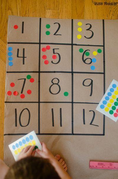 NUMBER BOXES: Eine einfache Vorschul-Mathe-Aktivität, die Kinder lieben werden!…