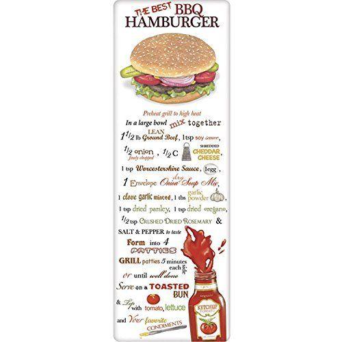 "Flour Sack Towel Recipe ""The Best BBQ Hamburger"" Outdoor/..."