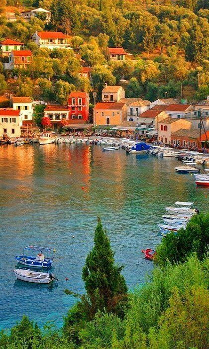 The picturesque small bay of Paxos island in the Ionian Sea - Greece
