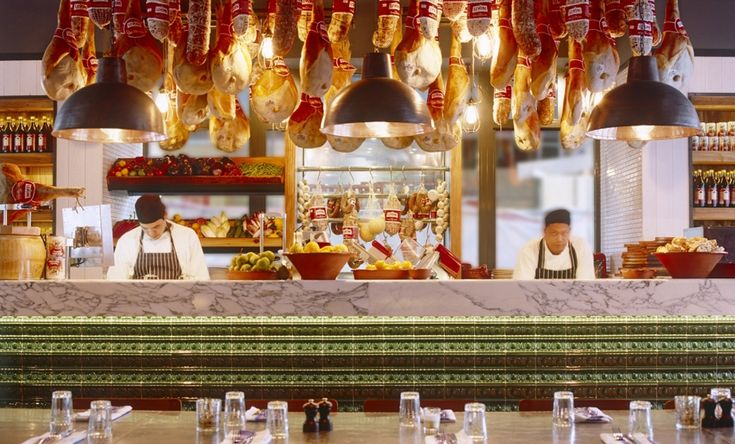Lighting is an essential factor for restaurant interiors. Original BTC at Jamie Oliver Restaurants. #lighting #interiors