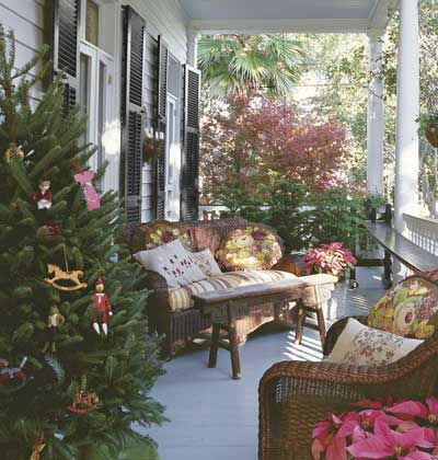A Tree On The Front Porch To Welcome Visitors.