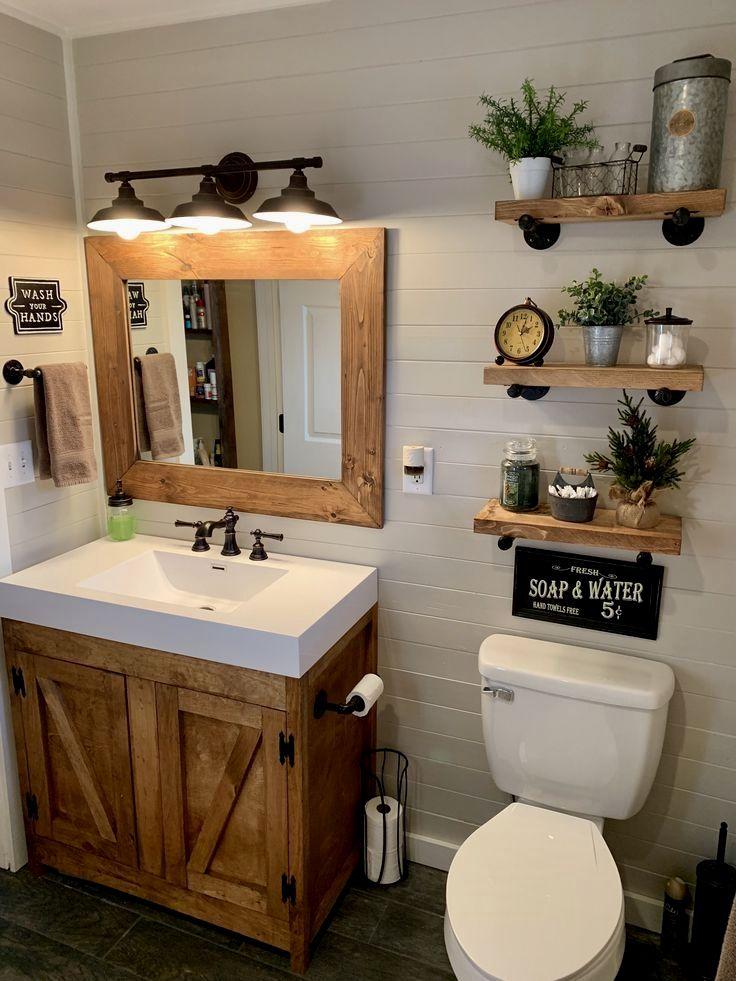 Rustic Bathroom Inspirations Small Farmhouse Bathroom Farmhouse